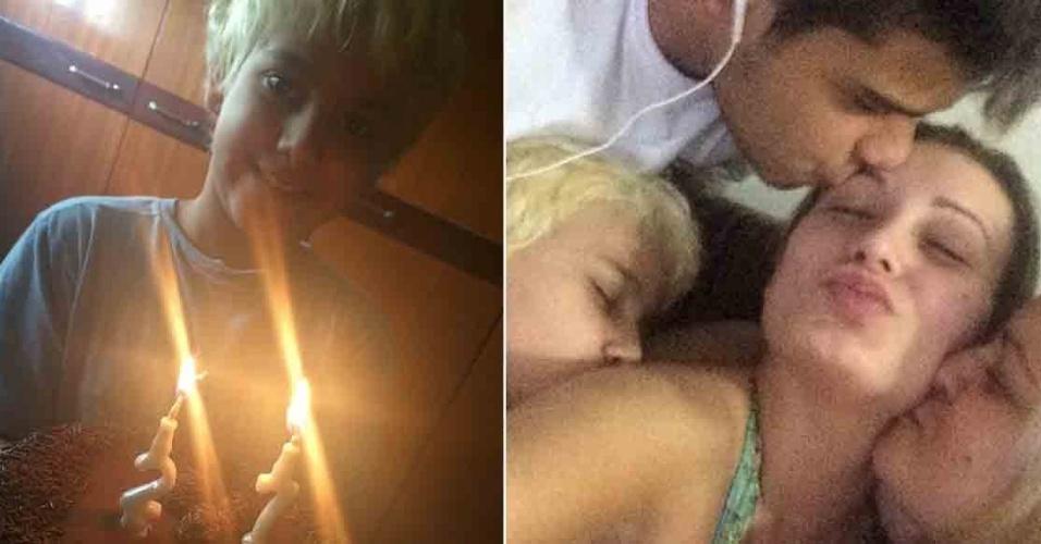 11.out.2014 - Andressa Urach faz 27 anos e ganha carinho do filho e da família