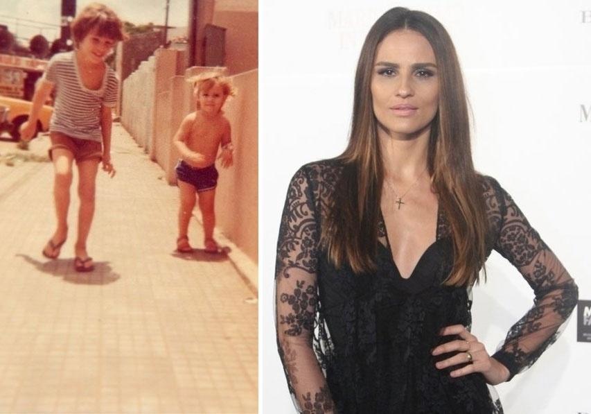 """12.out.2014 - """"Como é bom ser criança! Feliz 12 de outubro pra todas as crianças (incluindo nós....)"""", escreveu a modelo Fernanda Tavares na legenda da foto ao lado do irmão, Teco Tavares. Ela ainda explicou, em inglês, que é Dia das Crianças no Brasil"""
