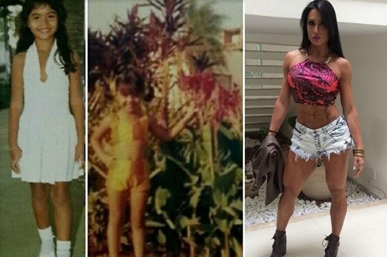 12.out.2014 - Gracyanne Barbosa postou uma foto para celebrar o Dia das Crianças
