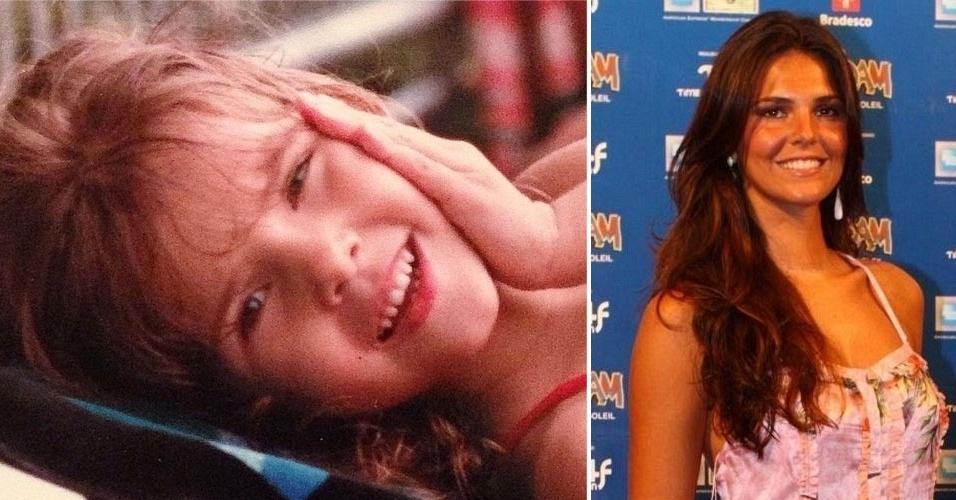 """12.out.2014 - """"Mini Me! Um feliz dia para todas as crianças do mundo!"""", escreveu Daniella Sarahyba na legenda de sua foto quando criança"""