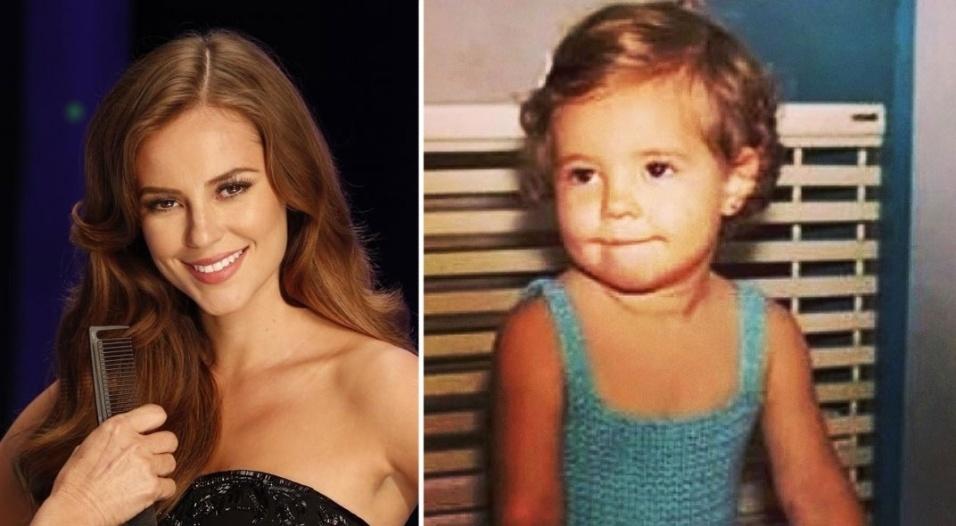 """12.out.2014 - Paola Oliveira escolheu uma foto de sua infância para desejar feliz Dia das Crianças aos seus seguidores no Instagram. """"Olha eu"""", escreveu a atriz"""
