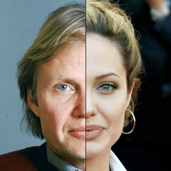 Angelina Jolie é mesmo muito parecida com o pai. Não é a toa que a beleza de pai e filha, além do talento, conquistou Hollywood
