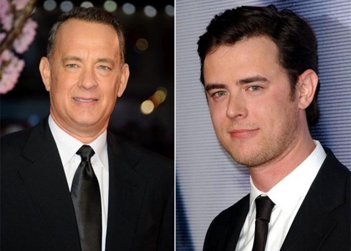 Na imagem, Tom Hanks (esq.) e o filho, Colin Hanks