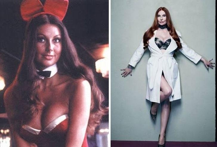"""23.out.2014 - A jornalista Marilyn Cole Lownes, hoje com 65 anos, relembrou os tempos de coelhinha da Playboy. """"Nós tínhamos em nossas bolsas dinheiro suficiente para pegarmos um avião, se quiséssemos"""". À direita, Marilyn veste uma das fantasias que costumava usar durante ensaios à publicação, em 1972"""