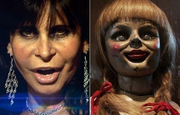28.out.2014 - Após ter sido comparada por internautas nas redes sociais com a boneca do filme de terror
