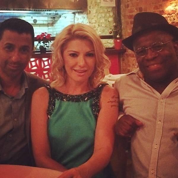 9.dez.2014 - Antônia Fontenelle compartilha foto no Instagram após jantar com o ex-ministro do STF, Joaquim Barbosa,