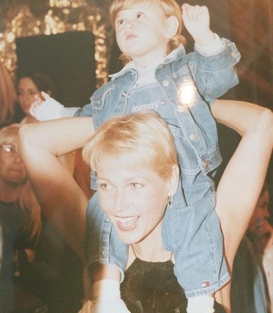 """""""Eu e Sassa no planeta"""", disse Xuxa, mais uma vez referindo-se à filha de uma forma carinhosa"""