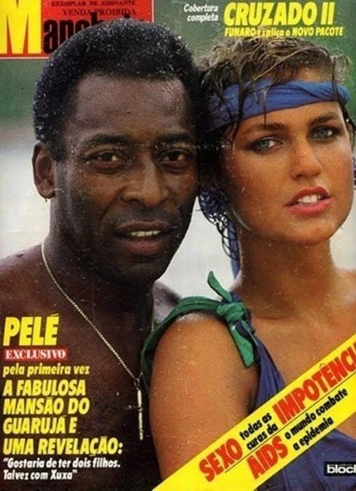2.abr.2015 - O casal Xuxa e Pelé fazia sucesso nas capas da extinta revista Manchete