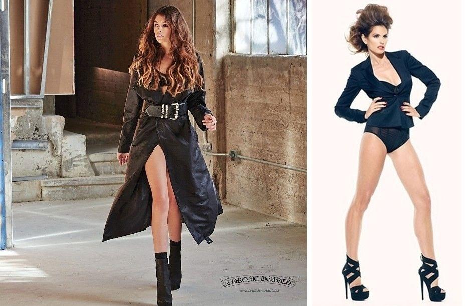 5.fev.2016 - Antes da campanha para a marca de acessórios, Kaia Gerber (dir.) já foi garota-propaganda da Versace Kids