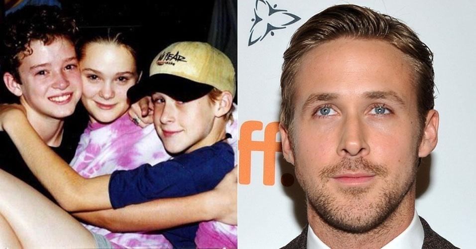 31.jul.2015 - Justin Timberlake aparece em mais uma imagem na infância, dessa vez ao lado do também ator Ryan Gosling (dir.)