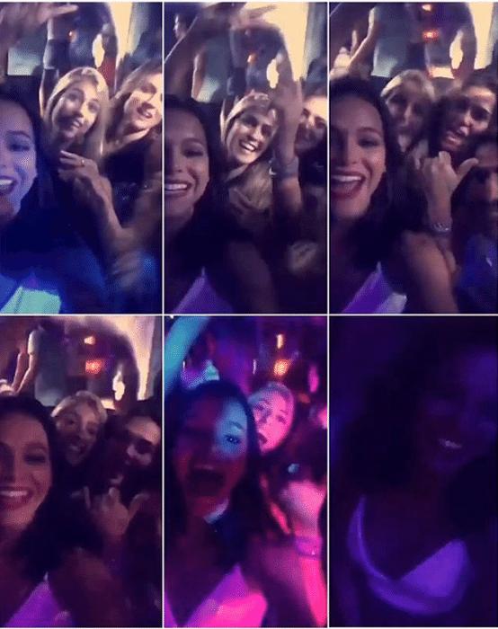 29.dez.2015 - Bruna Marquezine mostra a farra em balada de St. Barth, no Caribe. A gata está passando o fim de ano com a amiga Sasha