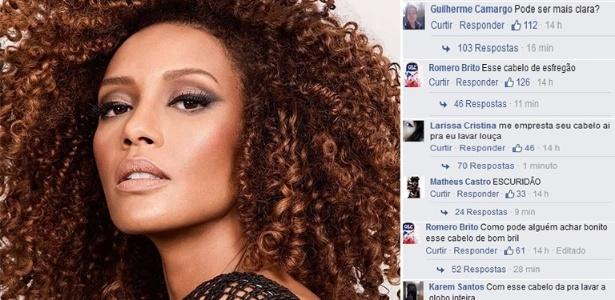 Caso recente de comentários racistas ocorreu com a atriz Taís Araújo no Facebook