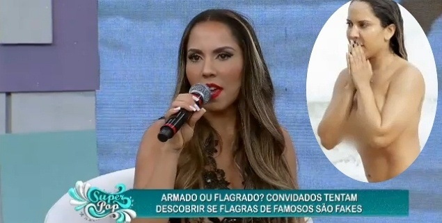13.ago.2015 - Renata Frisson, a Mulher Melão, foi a entrevistada de Luciana Gimenez na noite de quarta-feira (12) no programa