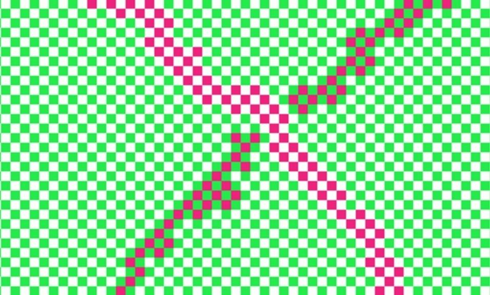 2.fev.2016 - Há apenas duas cores nesta imagem. O efeito vem da maneira que o cérebro recebe diferentes partes da imagem em momentos diferentes