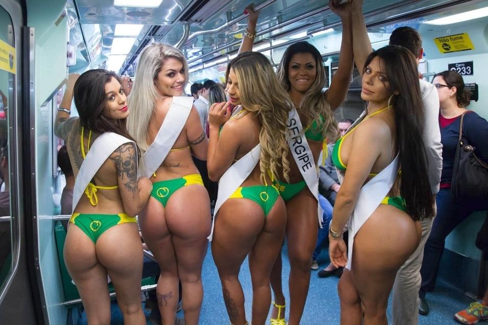 23.jul.2015 - Além das fotos oficiais das gatas que irão representar os estados brasileiros na competição Miss Bumbum Brasil 2015, o BOL foi atrás de fotos sensuais do passado de algumas das beldades do concurso. Confira a seguir imagens das beldades