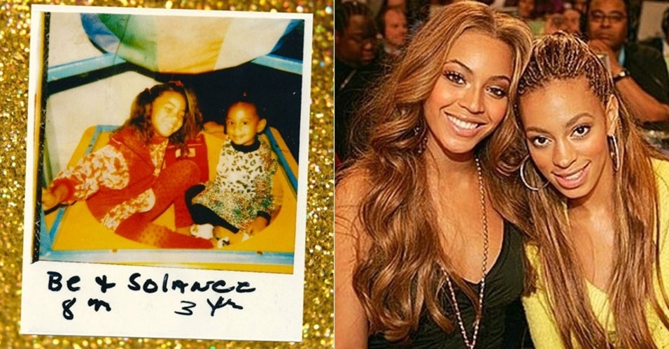 31.jul.2015 - Beyoncé postou no Instagram uma foto ao lado da irmã Solange Knowles quando as duas eram pequenas