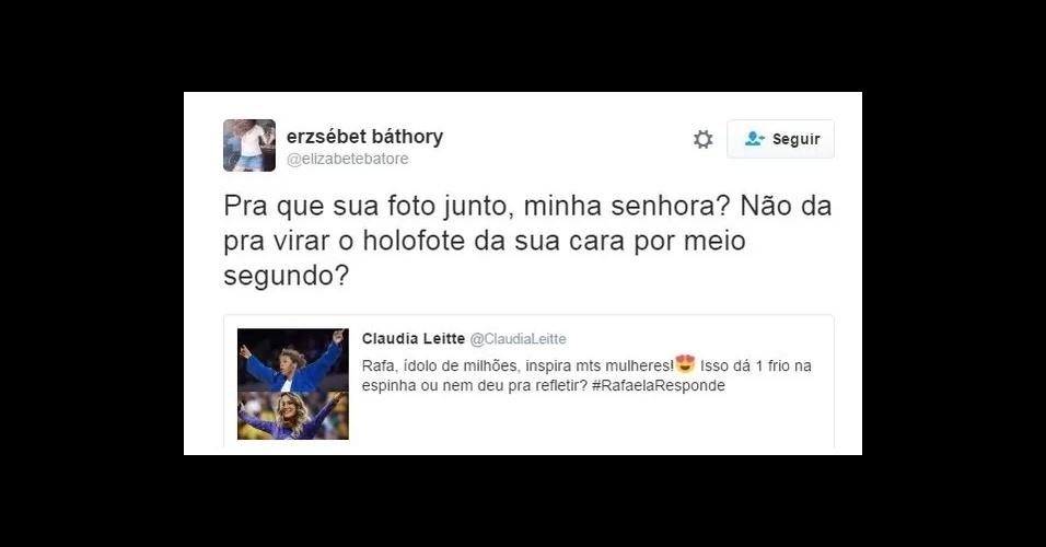 9.ago.2016 - O post de Claudia Leitte não agradou internautas que disseram que a cantora quis aparecer junto com a vitória da judoca que levou a primeira medalha de ouro para o Brasil na Olimpíada