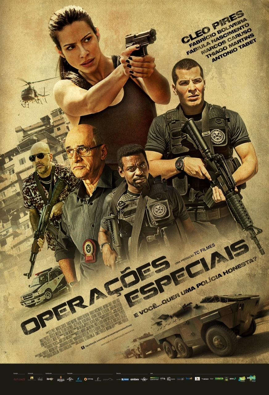 """Pôster do filme """"Operações Especiais"""", com Cleo Pires e Thiago Martins"""