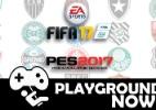 """UOL comenta duelo entre """"FIFA"""" e """"PES"""" e a vida pacata de """"Dragon Quest 7"""" - Divulgação"""