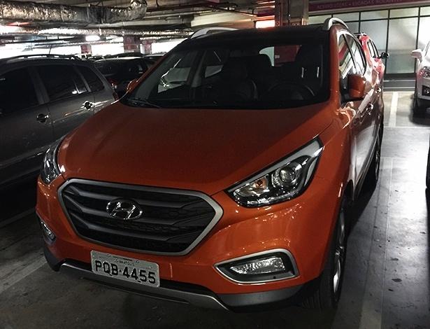 Hyundai ix35 com novo visual foi visto pelo leitor Daniel Pilavjian em um shopping de SP