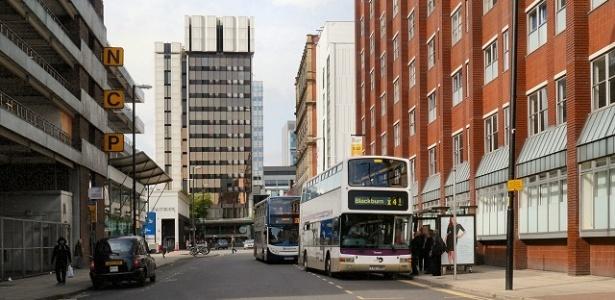 O incidente ocorreu na Chorlton Street, em Manchester