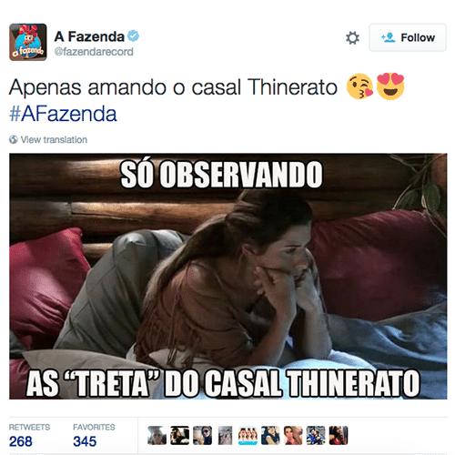 9.out.2015 - O casal Ana Paula Minerato e Thiago Servo mais brigam do que se amam em