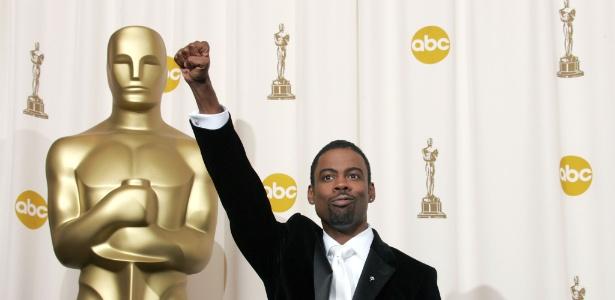 O ator e comediante Chris Rock quando apresentou a 77ª cerimônia do Oscar, em 2005