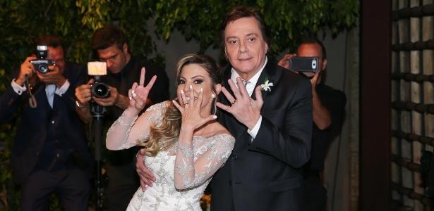 """Resultado de imagem para Fábio Jr. se casa pela sétima vez: """"Treinei, treinei e ganhei o jogo"""""""
