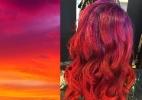 Veja o resultado do sunset hair, cabelo que imita cores do pôr do sol - Reprodução/Instagram/@hair_princess_steph