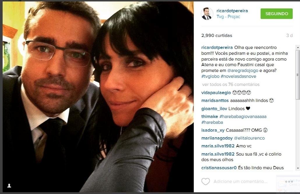 Ricardo Pereira e Giovanna Antonelli nos bastidores de