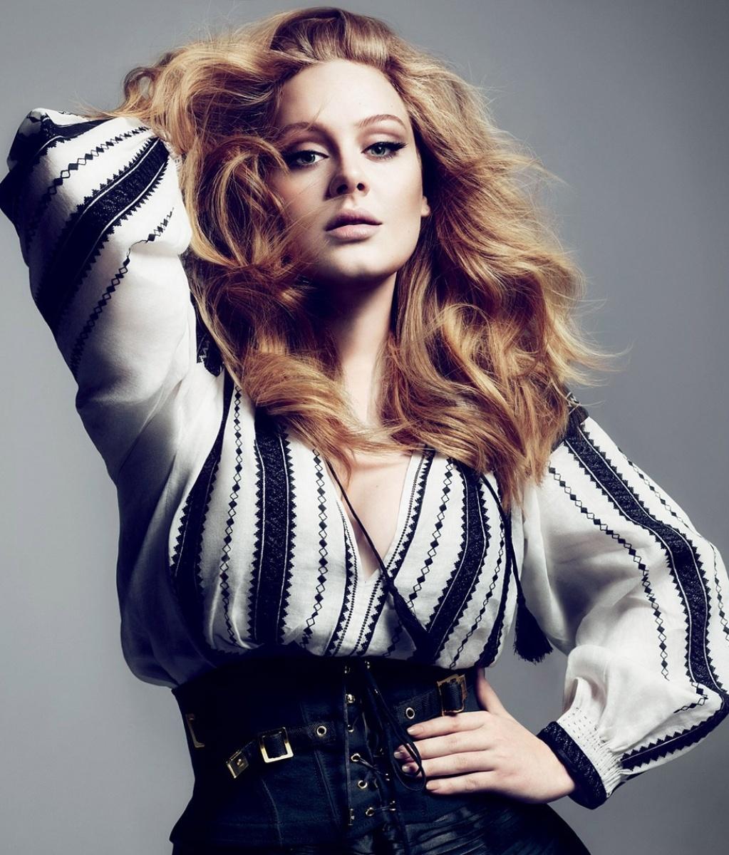 Adele em ensaio da revista