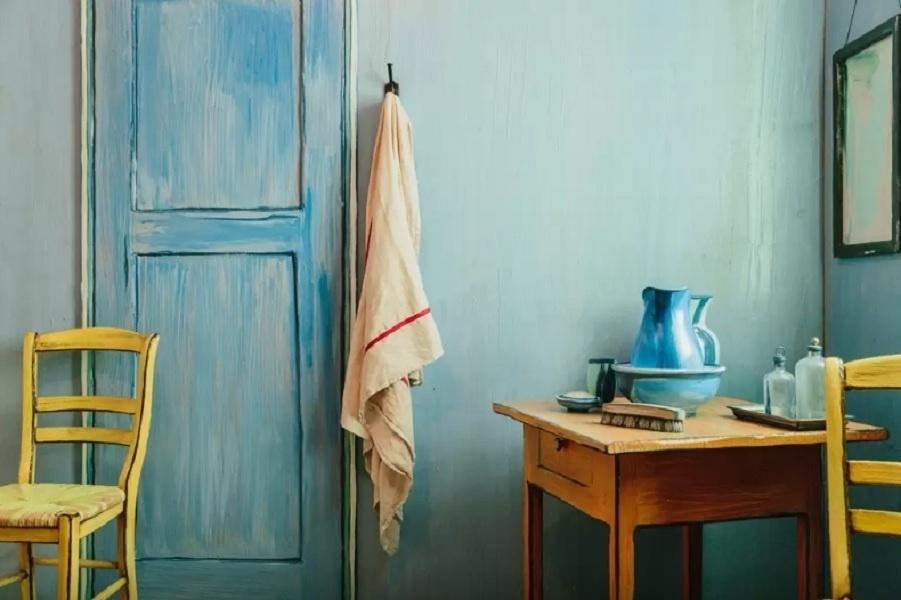 O quarto inspirado na obra do holandês Van Gogh está localizado em Chicago, nos Estados Unidos, e pode ser alugado via Airbnb (www.airbnb.com.br) por R$ 36, o pernoite. O Art Institute of Chicago foi convidado para desenvolver o aposento que leva as cores, bem como móveis e objetos semelhantes aos da pintura
