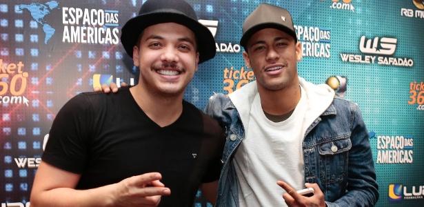 Em julho, Neymar prestigiou o show de Wesley Safadão em São Paulo