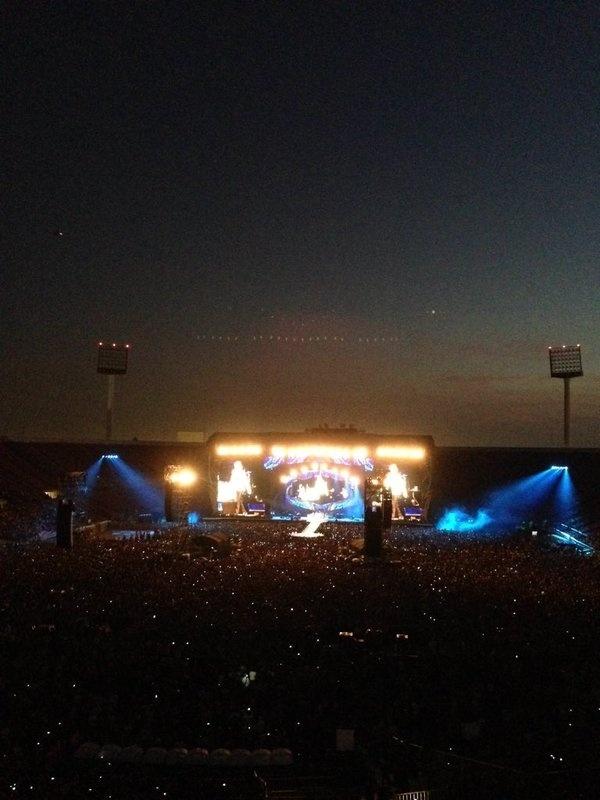 03.fev.2016 - A apresentação dos Rolling Stones ocorreu no Estádio Nacional, no Chile
