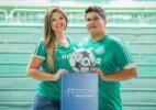 Casais escolhem estádio de futebol como cenário de ensaio pré-casamento - Carlos Basso/Divulgação