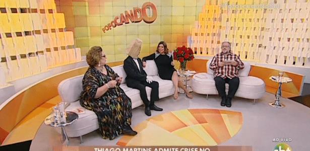 """Mamma, o Homem do Saco, Mara e Leão Lobo à frente do """"Fofocando"""", no SBT"""