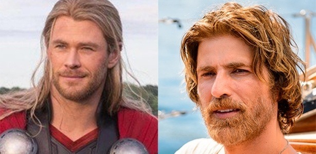 Chris Hemsworth, que interpretou Thor nos cinemas e Reynaldo Gianecchini