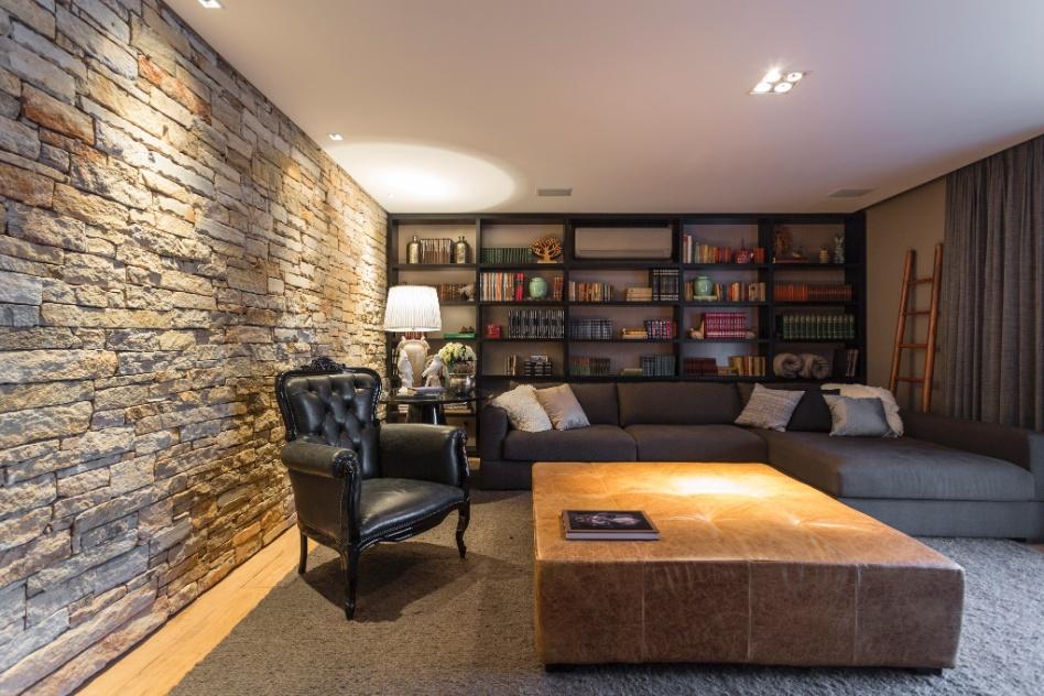 Tamanho De Tv X Tamanho Da Sala ~ uma estante no tamanho da parede para comportar todos os livros da