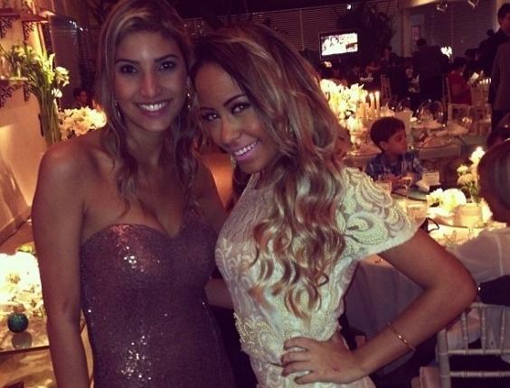 25.maio.2013 - Rafaella Beckran, irmã de Neymar, prestigiou o casamento do jogador Paulo Henrique Ganso em Caraguatatuba, litoral de São Paulo
