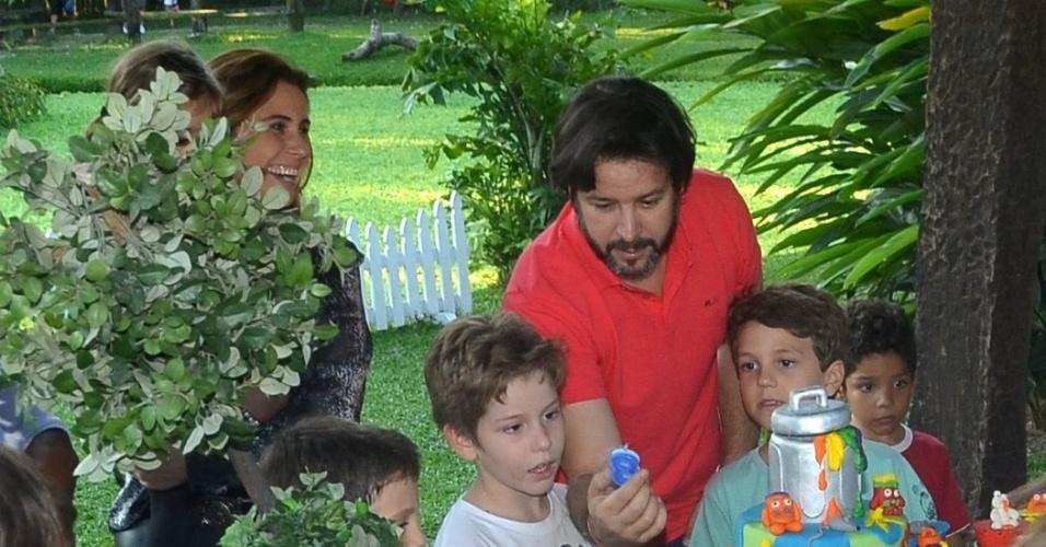 26.mai.2013 - Murilo Benício celebrou o aniversário de oito anos de Pietro com festa em um sítio na zona oeste do Rio. O menino é fruto do relacionamento do ator com Giovanna Antonelli