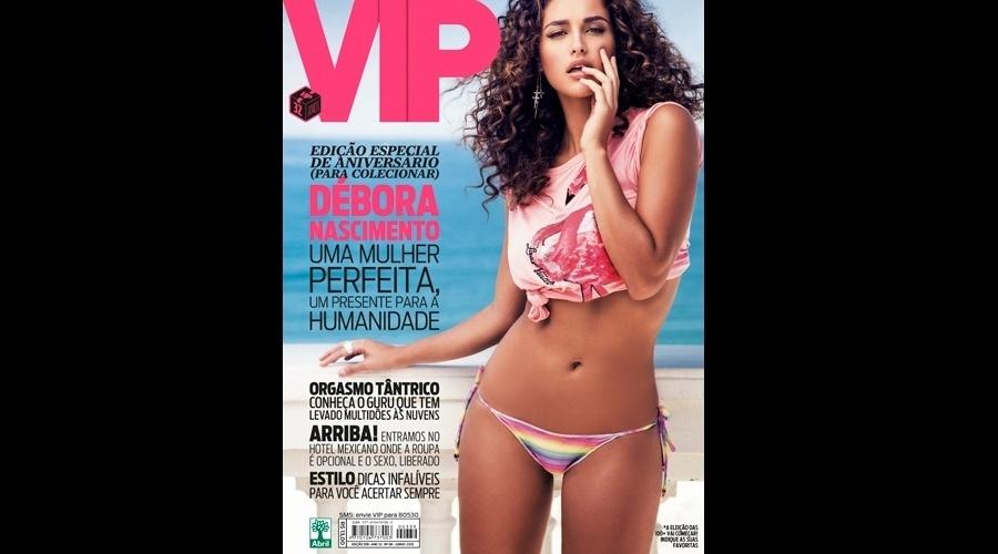 28.mai.2013 - Débora Nascimento é a estrela da edição de aniversário de 32 anos da revista
