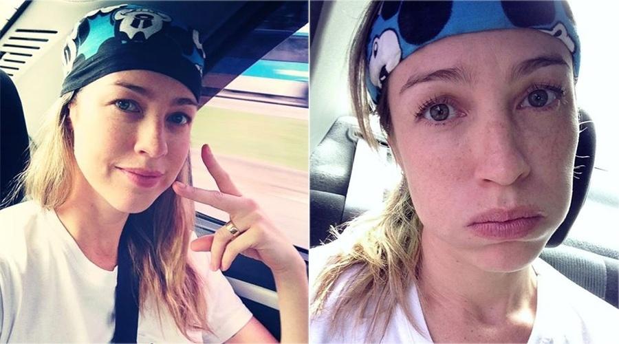 30.mai.2013 - Luana Piovani, antes e depois de treinar para o