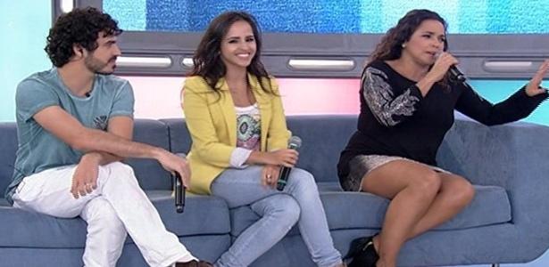 Daniela Mercury e os filhos Giovanna e Gabriel participam do