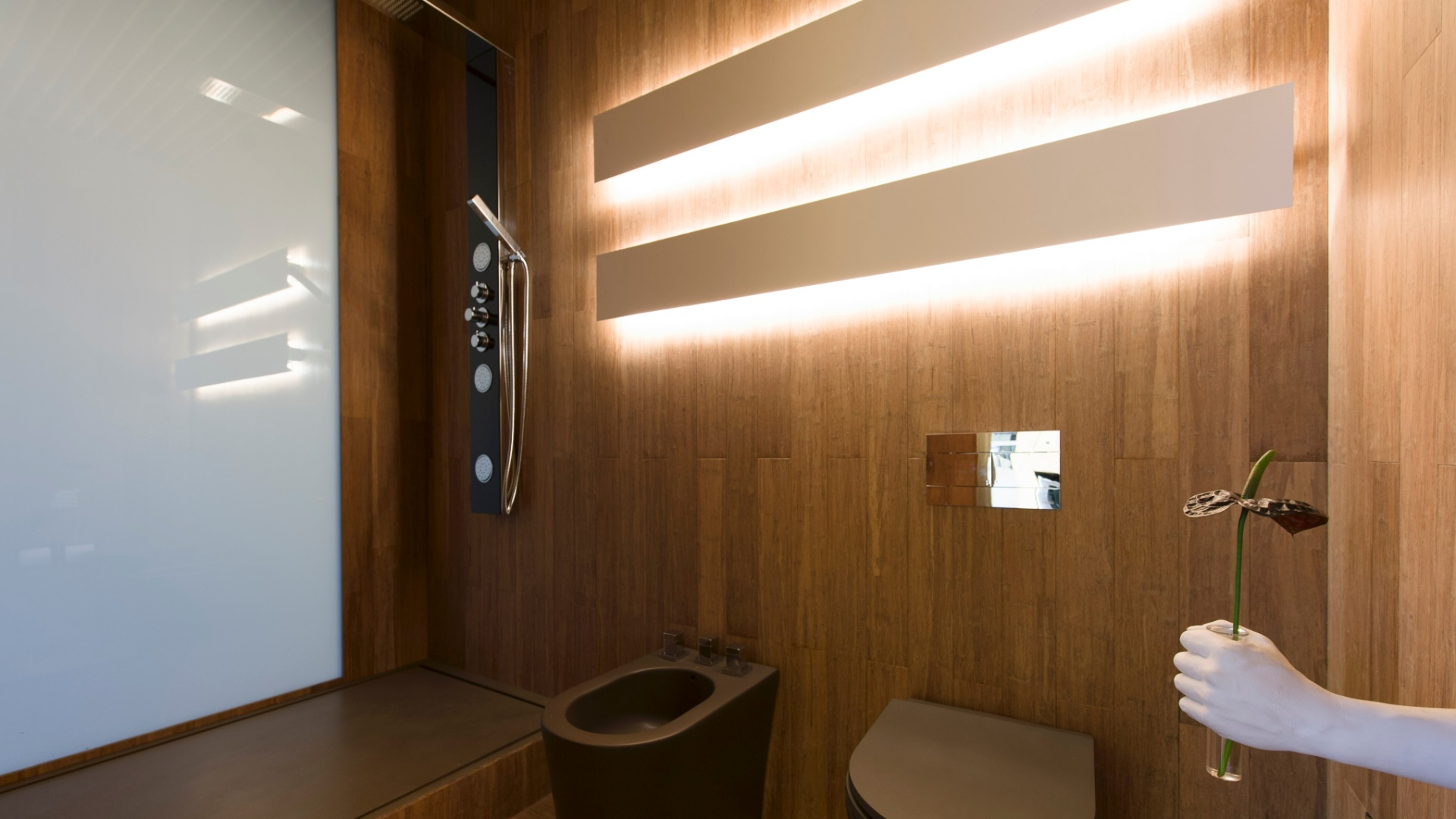 Imagens de #392410 No banheiro do ambiente Hotel Black assinado por Guilherme Torres o  1920x1080 px 2936 Box Banheiro Fosco