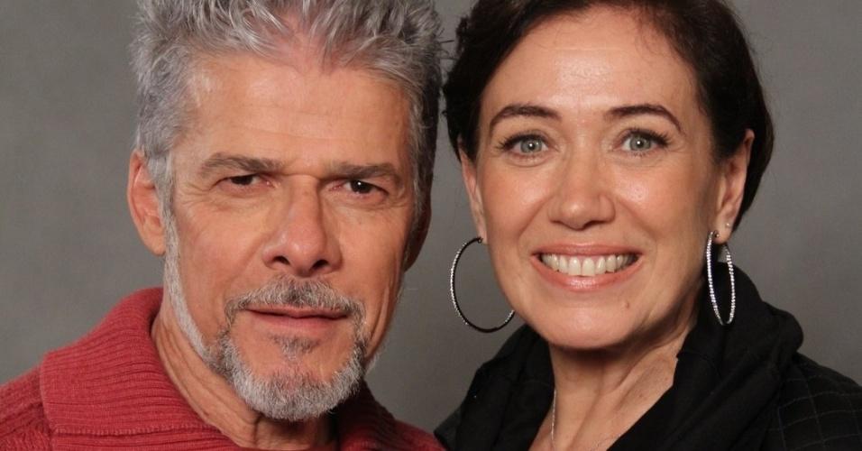 """4.jun.2013 - José Mayer e Lilia Cabral, que já formaram um casal nas novelas """"Fina Estampa"""", """"Viver a Vida"""" e """"História de Amor"""", vão se apaixonar no remake de """"Saramandaia"""""""
