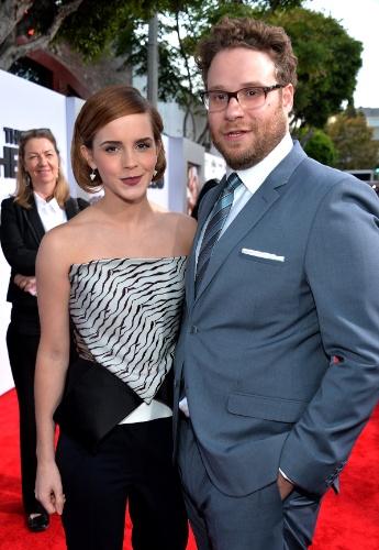 """Emma Watson e Seth Rogen na pré-estreia norte-americana de """"É o Fim"""""""