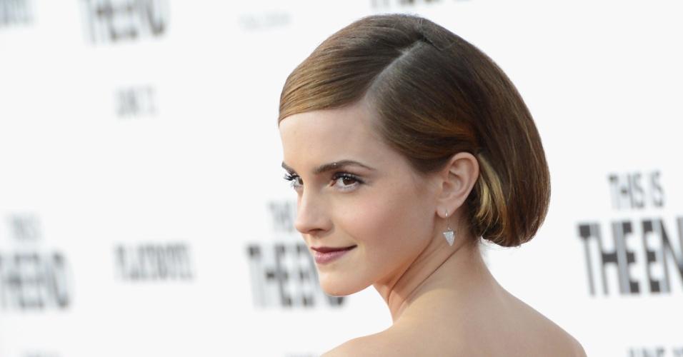 """Emma Watson na pré-estreia norte-americana de """"É o Fim"""""""