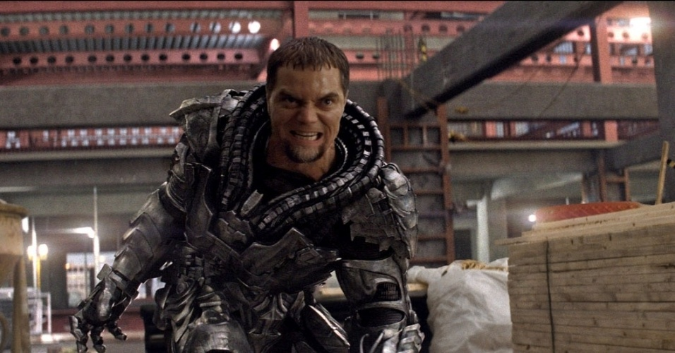"""General Zod (Michael Shannon) em """"O Homem de Aço"""""""
