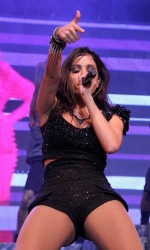 6.jun.2013 - O show da cantora de funk contou com a participação de Preta Gil e Thiago Martins. Adepta do funk melody, ela usa letras leves, exalta o sexo feminino e prefere não usar o MC em nome artístico
