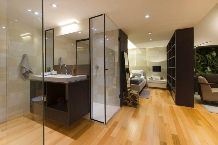 Casa Cor SP 2013 banheiros e quartos  BOL Fotos -> Banheiro Pequeno De Vidro Dentro Do Quarto